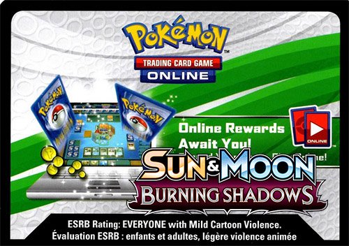 SM Burning Shadows Online Code Card