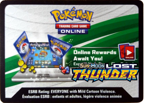 SM Lost Thunder Online Code Card