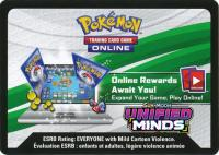 pokemon online tcg codes sm unified minds online code card