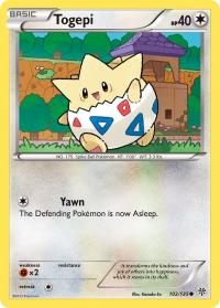 pokemon plasma storm togepi 102 135