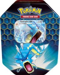 pokemon pokemon boxes and packs hidden fates tin gyarados gx