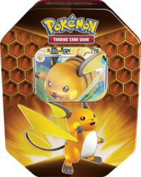 pokemon pokemon boxes and packs hidden fates tin raichu gx