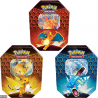 pokemon pokemon boxes and packs hidden fates tins set of 3 charizard raichu gyarados
