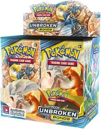 pokemon pokemon boxes and packs sm unbroken bonds booster box presale 5 3
