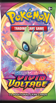 pokemon pokemon boxes and packs sword shield vivid voltage celebi art booster