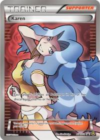pokemon premium trainer s xy collection karen xy177a