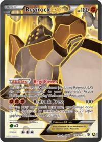 pokemon premium trainer s xy collection regirock ex 43a 124