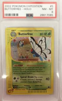 pokemon psa graded cards butterfree 5 165 expedition holo psa 8