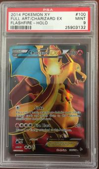 pokemon psa graded cards charizard ex full art 100 106 psa 9