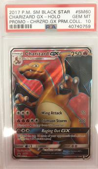 pokemon psa graded cards charizard gx promo sm60 psa 10