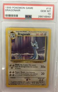 pokemon psa graded cards dragonair 18 102 base set graded psa 10