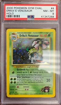 pokemon psa graded cards erika s venusaur 4 132 psa 8