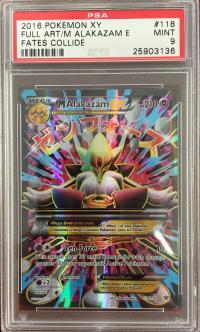 pokemon psa graded cards m alakazam ex full art 118 124 psa 9