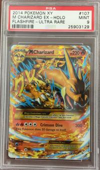 pokemon psa graded cards m charizard ex 107 106 psa 9