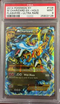 pokemon psa graded cards m charizard ex 108 106 psa 9