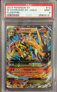 pokemon psa graded cards m charizard ex 13 106 psa 9
