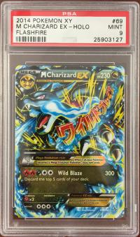 pokemon psa graded cards m charizard ex 69 106 psa 9