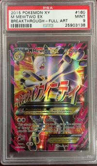 pokemon psa graded cards m mewtwo ex full art 160 162 psa 9