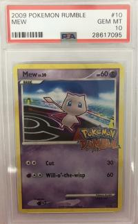 pokemon psa graded cards mew pokemon rumble 10 16 psa 10