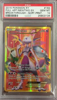 pokemon psa graded cards mewtwo ex full art 164 162 psa 9