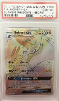 pokemon psa graded cards noivern gx 160 147 rainbow psa 10