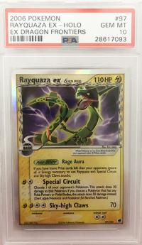 pokemon psa graded cards rayquaza ex 97 101 psa 10
