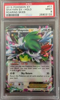 pokemon psa graded cards shaymin ex 77 108 psa 9