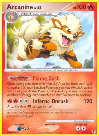 pokemon secret wonders arcanine 22 132 rare