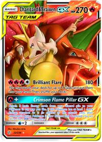 pokemon sm cosmic eclipse charizard braixen gx 22 236