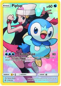 pokemon sm cosmic eclipse piplup 239 236