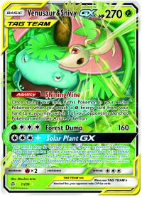 pokemon sm cosmic eclipse venusaur snivy gx 1 236