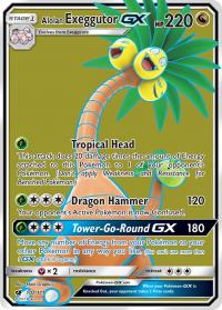 pokemon sm crimson invasion alolan exeggutor gx full art 107 111