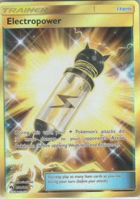 pokemon sm lost thunder electropower 232 214 secret rare