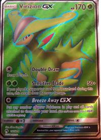 pokemon sm lost thunder virizion gx 197 214 full art