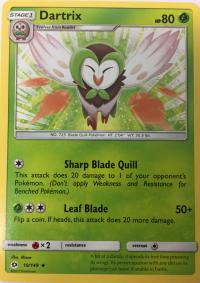 pokemon sm sun moon base set dartrix 10 149