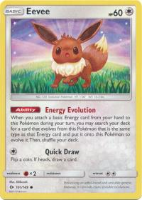 pokemon sm sun moon base set eevee 101 149
