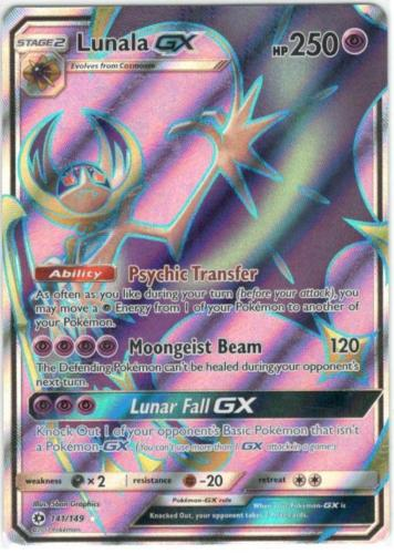 Image result for lunala  full art gx sun and moon tcg