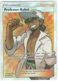 pokemon sm sun moon base set professor kukui full art 148 149
