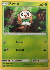 pokemon sm sun moon base set rowlet 9 149