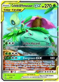 pokemon sm team up celebi venusaur gx 1 181