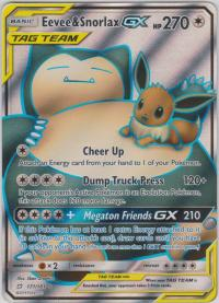 pokemon sm team up eevee snorlax gx 171 181 full art