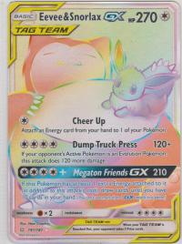 pokemon sm team up eevee snorlax gx 191 181 rainbow