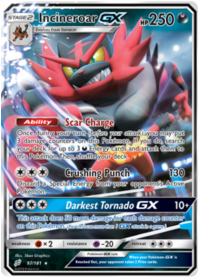 pokemon sm team up incineroar gx 97 181