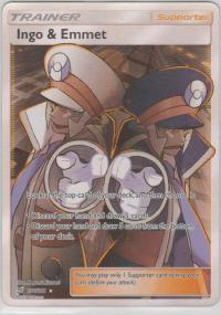 pokemon sm team up ingo emmet 176 181 full art