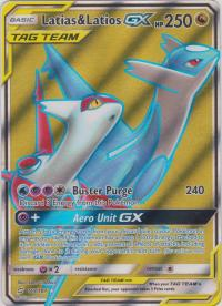 pokemon sm team up latias latios gx 169 181 full art