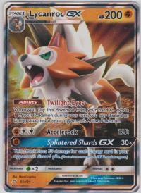 pokemon sm team up lycanroc gx 82 181