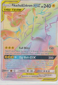pokemon sm team up pikachu zekrom gx 184 181 rainbow