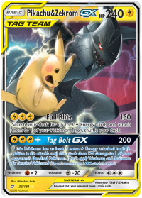 pokemon sm team up pikachu zekrom gx 33 181