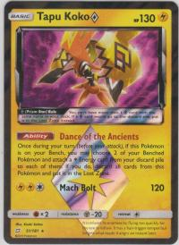 pokemon sm team up tapu koko 51 181 prism