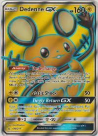 pokemon sm unbroken bonds dedenne gx 195 214 full art